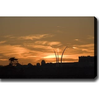'Sunset in Washington D.C' Gallery-wrapped Photography Canvas Art