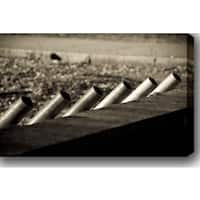 'Slanted Pipes' Gallery-wrapped Photography Canvas Art