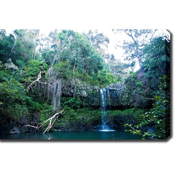 'Waterfall in Hawaii' Canvas Art