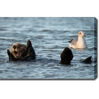 'California Sea Otter, Monterey Bay' Gallery-wrapped Canvas Art
