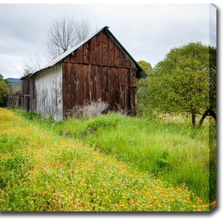 Shop 'Rustic House in Napa Valley' Canvas Art - Overstock ...