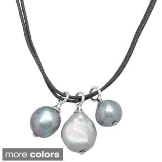 Sunstone Catherine Canino Freshwater Round Coin Pearl Necklace (8, 10, 13 mm)