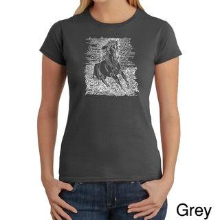 Los Angeles Pop Art Women's 'Horse Breeds' T-shirt