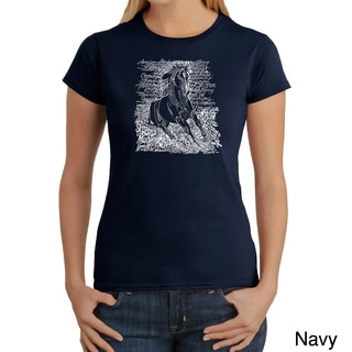 Los Angeles Pop Art Women's 'Horse Breeds' T-shirt