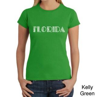 Los Angeles Pop Art Women's 'Florida Cities' T-shirt
