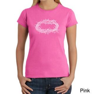 Los Angeles Pop Art Women's 'Jesus Crown of Thorns' T-shirt