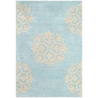 Safavieh Handmade Soho Turquoise/ Yellow Wool Rug (2'6 x 4')