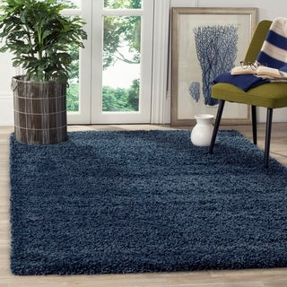 Safavieh California Cozy Plush Navy Shag Rug (4' x 6')