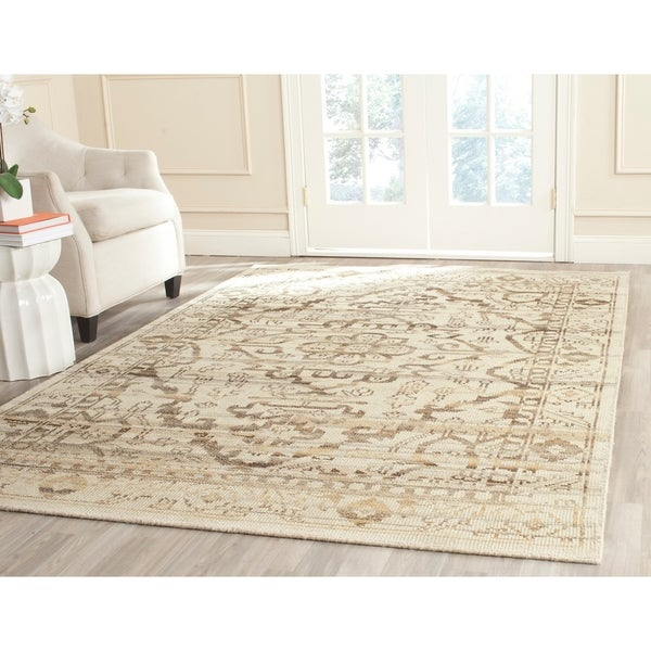 Safavieh Hand-woven Kenya Natural Wool Rug - 8' x 10'