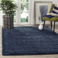 Safavieh California Cozy Solid Navy Shag Rug - 8'6 x 12'
