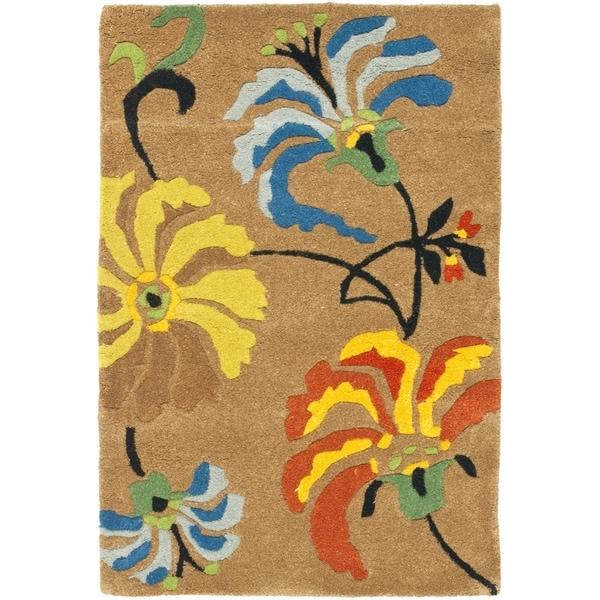 Safavieh Handmade Soho Brown New Zealand Wool/ Viscose Rug - 9'6 x 13'6