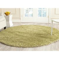 "Safavieh California Cozy Plush Green Shag Rug - 6'7"" x 6'7"" Round"