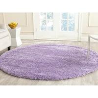 "Safavieh California Cozy Plush Lilac Shag Rug - 6'7"" x 6'7"" round"