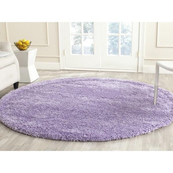 Safavieh California Cozy Plush Lilac Shag Rug (6'7 Round