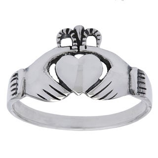 .925 Sterling Silver Traditional Irish Claddaugh Celtic Fashion Ring