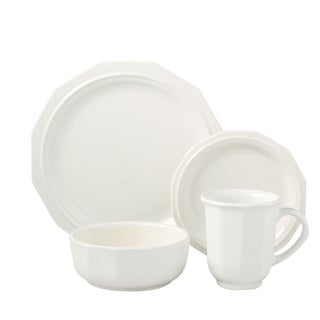 Pfaltzgraff Heritage Solid White 16-piece Dinnerware Set