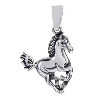 Handmade Noble Stallion .925 Sterling Silver Horse Pendant (Thailand)