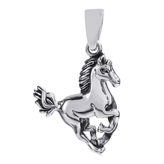Noble Stallion .925 Sterling Silver Horse Pendant (Thailand)