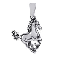 Shop sterling silver horse pendant necklace free shipping on handmade noble stallion 925 sterling silver horse pendant thailand aloadofball Gallery