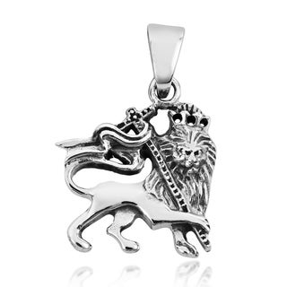 Rasta Lion of Judah .925 Sterling Silver Pendant (Thailand)