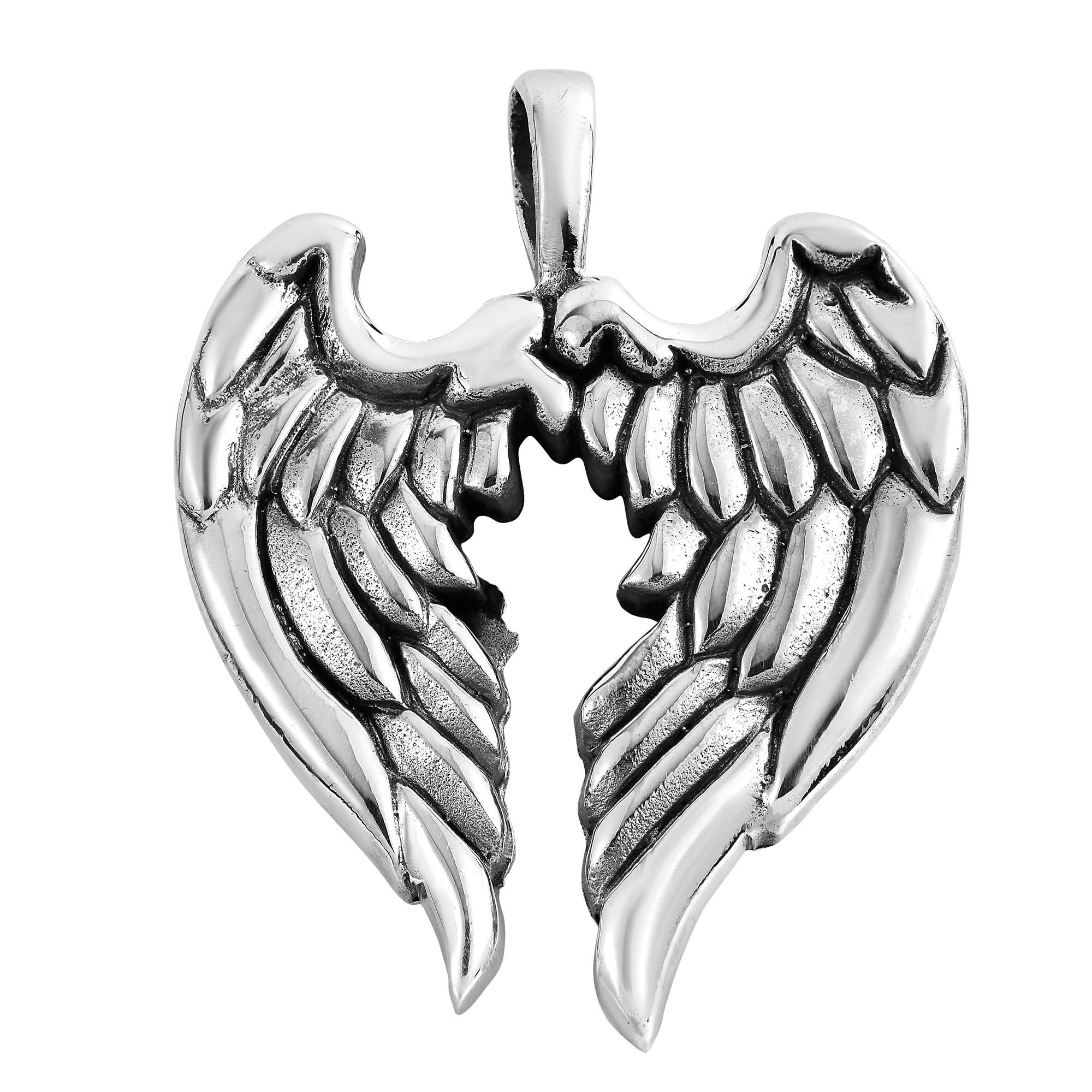 Aeravida Handmade Guardian Angel Wings .925 Sterling Silv...