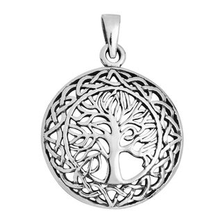 Handmade Mystic Celtic Tree of Life Sterling Silver Pendant (Thailand)