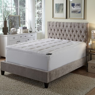 Behrens England High-loft Down Alternative Fiber Bed - White