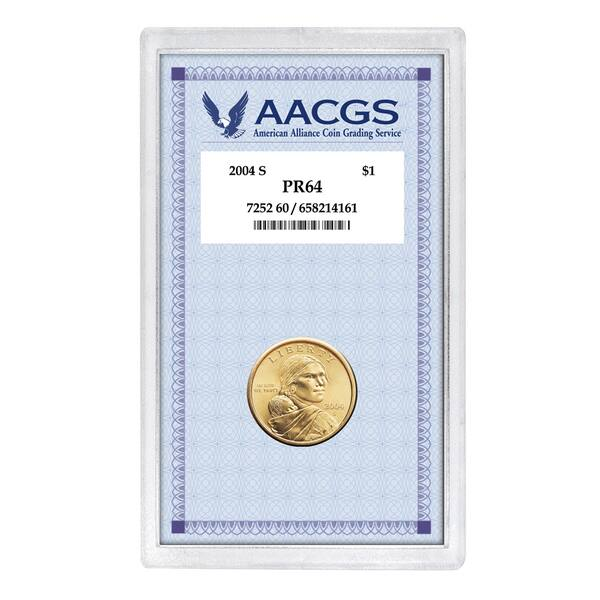 Shop American Coin Treasures 2004 S Pr64 Sacagawea Golden Dollar