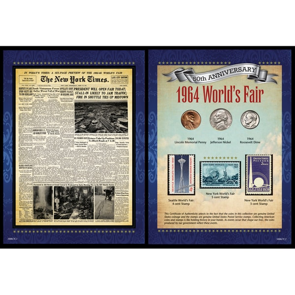 American Coin Treasures New York Times 1964 World's Fair Portfolio