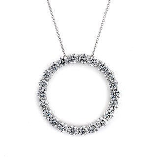 Diamonds For a Cure 14k White Gold 4ct TDW Circle Necklace (G-H, SI1-SI2)