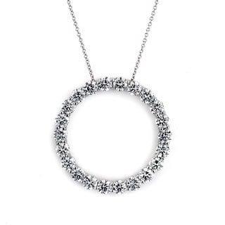 Neda Behnam 14k White Gold 4ct TDW Circle Necklace