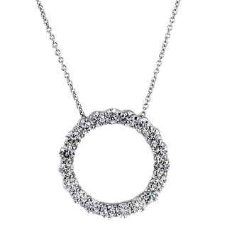 Diamonds For A Cure 14k White Gold 1 1/2ct TDW Circle Necklace (G-H, SI1-SI2)