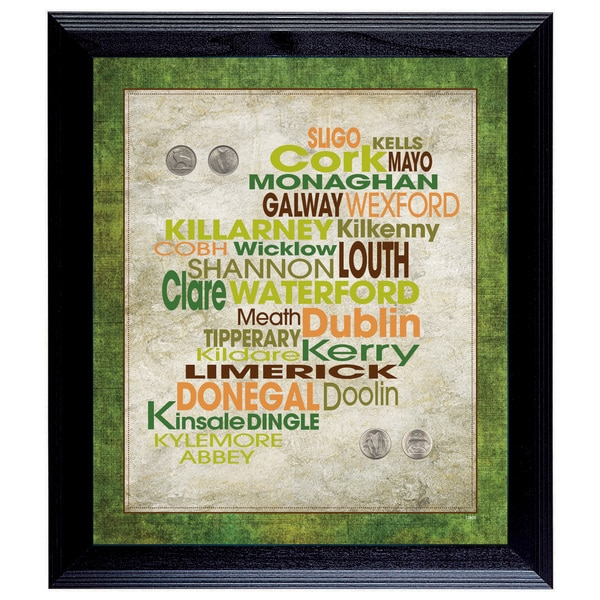 American Coin Treasures Luck of the Irish Wall Frame with Coins