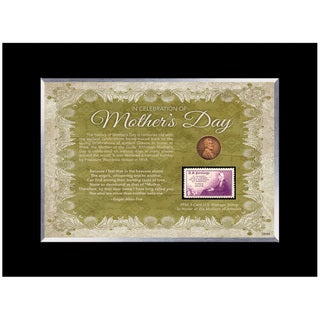 American Coin Treasures Mother's Day Celebration Stamp and Coin Frame