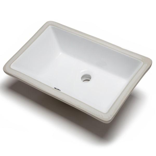 Bathroom Sinks White hahn ceramic medium rectangular bowl undermount white bathroom