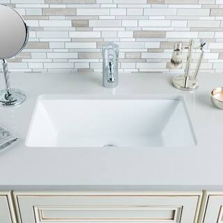 Hahn Ceramic Medium Rectangular Bowl Undermount White Bathroom Sink|https://ak1.ostkcdn.com/images/products/8818825/P16052483.jpg?impolicy=medium