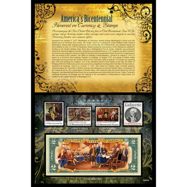 American Coin Treasures America's Bicentennial Currency and Stamps
