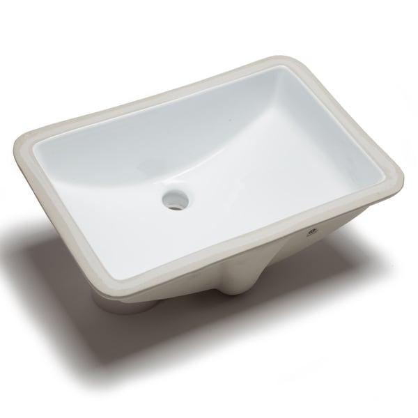 Bathroom Sinks Rectangular hahn ceramic large rectangular undermount bowl white bathroom sink