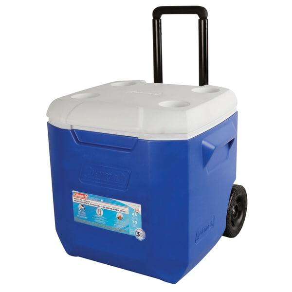 Coleman 45-quart Blue/ White Wheeled Cooler