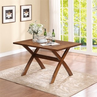 Dorel Living Trestle Wood Dining Table