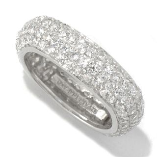 Sterling Silver Pave Cubic Zirconia Square Ring
