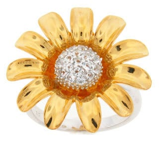 Meredith Leigh Sterling Silver White Topaz Ring