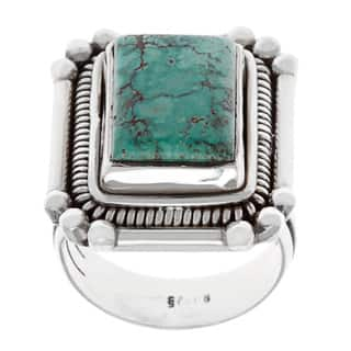 Sterling Silver Turquoise Ring|https://ak1.ostkcdn.com/images/products/8819006/Sterling-Silver-Turquoise-Ring-P16052598.jpg?impolicy=medium