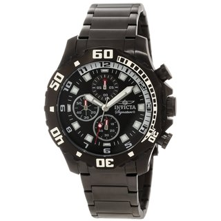 Invicta Men's 7335 'Signature II' Black Stainless Steel Chronograph Watch