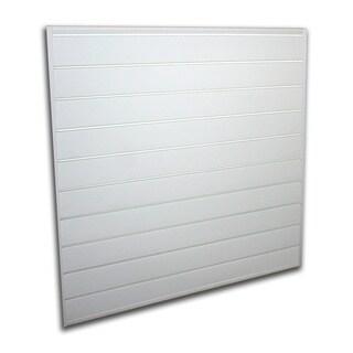 Proslat White 16 square foot Heavy Duty Slatwall Organizer Panel