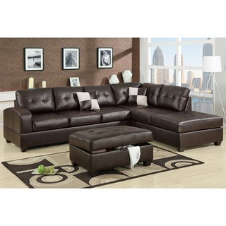 Berane Reversible All Around Bonded Leather Sectional Couch