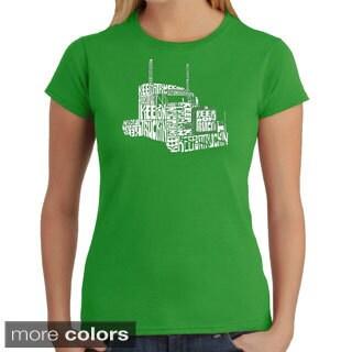 Los Angeles Pop Art Women's 'Keep On Truckin' T-shirt