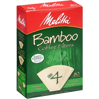 Melitta 63118 #4 Bamboo Paper Cone Coffee Filters (160 Count)