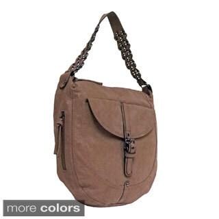 Bueno 'Piper' Rustic Woven Strap Hobo Bag