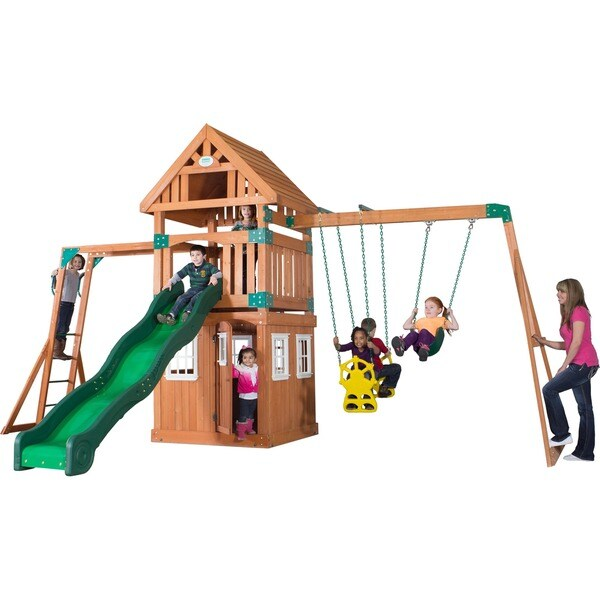 Castle Peak Wooden Swingset